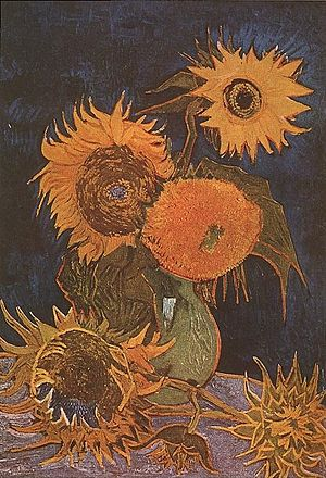 Décoration for the Yellow House - Image: Van Gogh Vase with Six Sunflowers