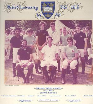 Oxford University Polo Club -  Varsity Match in 1980.