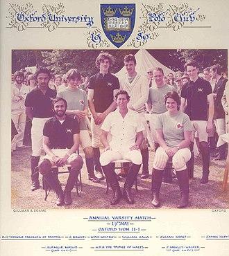 Oxford University Polo Club - Varsity Match in 1980.