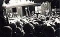 Vasútállomás, a Szent Jobbot szállító szerelvény, az Aranyvonat. A felvétel 1938. június 27.-én készült. Fortepan 100379.jpg