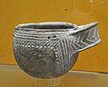 Vas amb decoració impresa cardial, Cova de l'Or de Beniarrés, Museu de Prehistòria de València.JPG