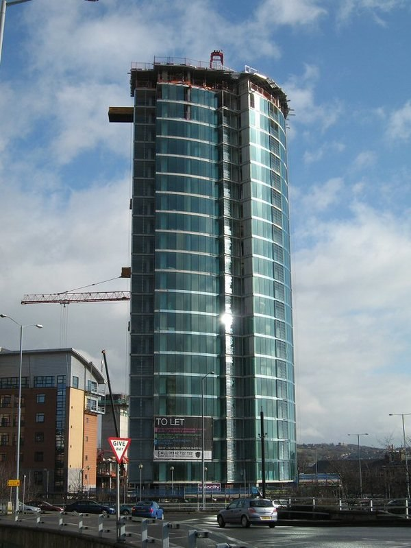 Velocity Tower from Moore Street roundabout