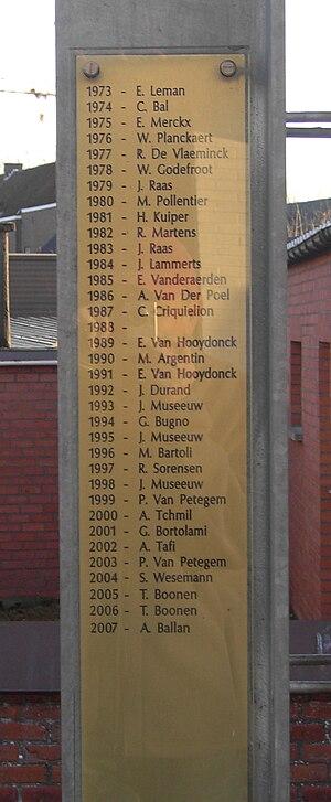 Velzeke - Paddestraat - Monument Ronde van Vla...
