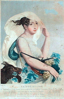 Vendémiaire month in the French Republican Calendar