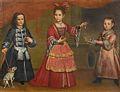 Venezianische Schule 18Jh Drei Kinder mit einem Hündchen.jpg