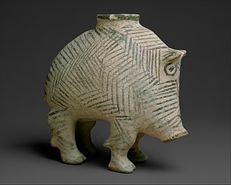 Proto-Elamite - Image: Vessel in the form of a boar MET DT4907