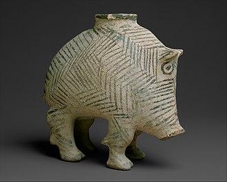 Proto-Elamite - Image: Vessel in the form of a boar MET DT4907