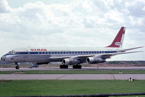 Viasa - A Netherlands-registered Douglas DC-8-53 in VIASA livery. (1965)