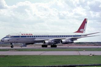 Viasa - A Netherlands-registered Douglas DC-8-53 in VIASA livery. (1965)