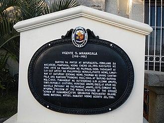 Vicente Manansala - Marker (Macabebe, Pampanga Town hall.