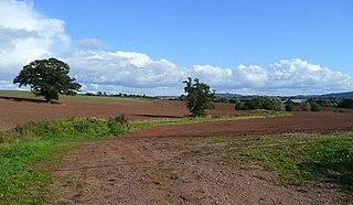 Brampton Abbotts village in United Kingdom