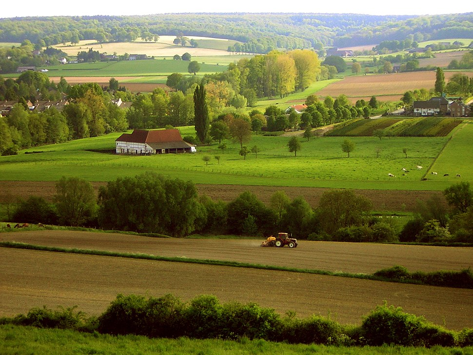 View from the Schneeberg in Germany to Oud-Lemiers in the Netherlands