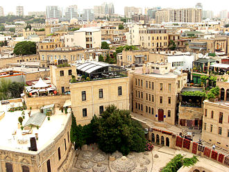 Old City (Baku) - A view of İcheri sheher from Maiden Tower