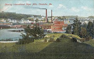 International Paper - Image: View of Paper Mills, Chisholm, ME