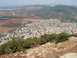 View of duburiyya from mt tabor