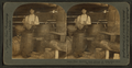 View of men pouring turpentine into barrels, from Robert N. Dennis collection of stereoscopic views.png