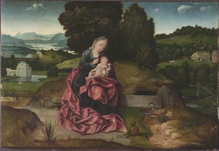 Virgin and Child Resting during the Flight into Egypt