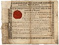 Virginia Land Office Warrant Number 229 to Joseph Cabell for Gabriel Penn.jpg