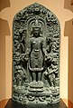 Vishnu with consorts, India, Pala period, 12th century AD, stone - Middlebury College Museum of Art - Middlebury, VT - DSC08240.jpg