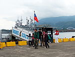 Visitors Passing away the Gangway of ROCN Yung An (MGC-1301) 20130504.jpg