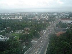 Vista da capital
