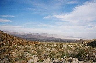 Anza-Borrego Desert State Park - Vista of the Anza Borrego desert landscape