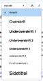 VisualEditor - Toolbar - Headers (nb).png