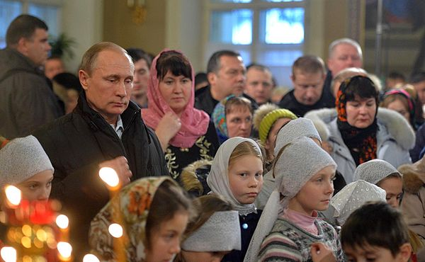 Vladimir Putin in Pokrova Church (Turginovo) 01.jpg