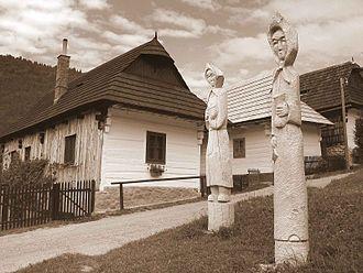 Vlkolínec - Street in Vlkolínec