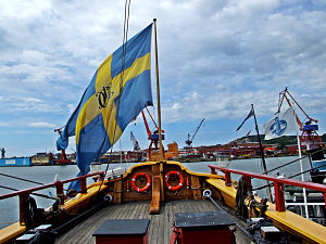 Götheborg (ship) - The swallowtailed SOIC flag.