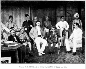 William Cowie (merchant) - Cowie with the Sultan of Sulu.