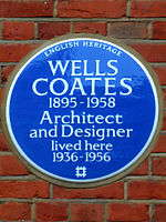 WELLS COATES 1895-1958 Architect and Designer lived here 1936-1956.jpg