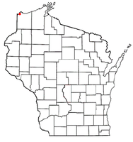 Location of Oliver, Wisconsin