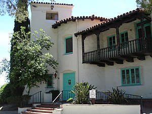 "William S. Hart - Hart's ranch home, ""La Loma de los Vientos"" in Newhall, California, built between 1924 and 1928 in the Spanish Colonial Revival architectural style, is currently a museum"