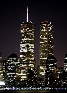 WTC Twin Towers Night July 2001.jpg