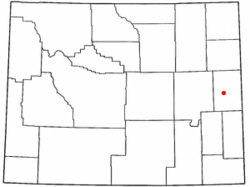 Location of Lance Creek, Wyoming
