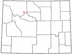 Location of Meteetse, Wyoming