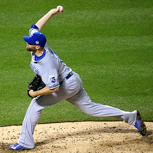 Wade Davis (baseball) - Davis with the Kansas City Royals in the 2015 World Series.