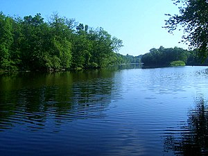 Wallkill River - Islands in the river near Walden, NY