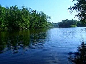 Wallkill River - Islands in the river near Walden, NY