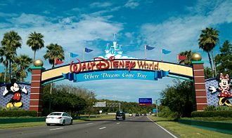 Walt Disney World - One of four arches welcoming guests to the resort.