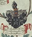 Wappen Gaudelitz im Stammbaum vKöckeritz Gottlob 1710.png