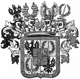 Friedrich Wilhelm Freiherr von Bülow - Arms of Count Bülow von Dennewitz, 1814