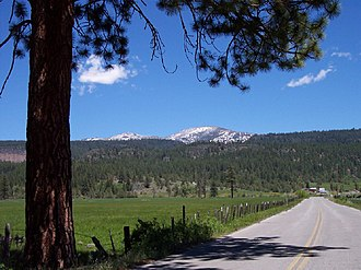 Warner Mountains - The Jess Valley and the Warner Mountains in northeastern California