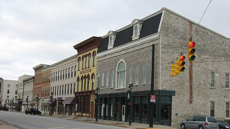 File:Water Street Commercial Buildings from Wayne Street.jpg