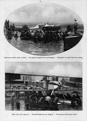 Battle for Lake Tanganyika - Belgian airplanes on the lake