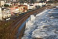 Waves breaking over the seawall, Dawlish (2) - geograph.org.uk - 1115999.jpg