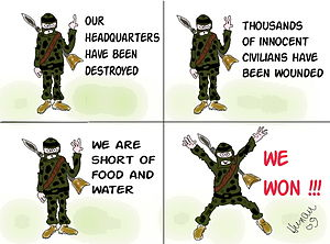 "English: ""We won"" in hamas interpret..."