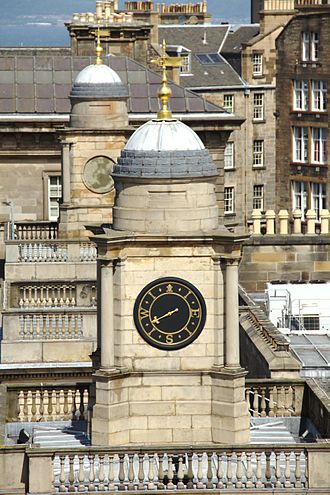 Weather vane - Weather vane with dial, New Register House, Edinburgh, Scotland