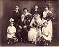 Wedding of Francis Joseph Woods (1891-1972) and Marguerite Jensen (1892-1986) on 12 September 1917 in Chicago, Illinois.jpg